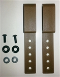 Adjustable Heavy Nylon Belt Clip Kit Coyote Tan
